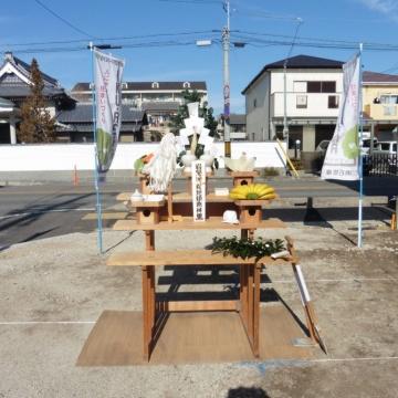 ☆西新町モデルハウス★地鎮祭
